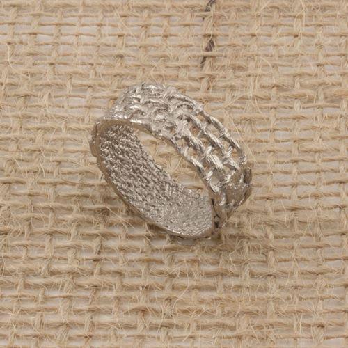 Afbeelding van FAB Jute, ring open witgoud