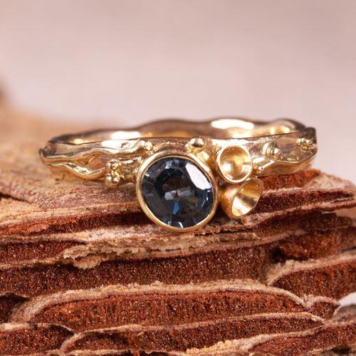 Afbeelding van Ring autumn met saffier blauw