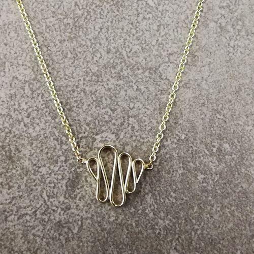 Afbeelding van ups n downs, gouden hangertje